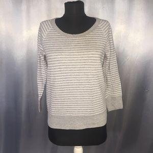 James Perse womens striped 3/4 sleeved sweater